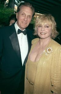 Robert Stack and his wife Rosemarie at the 10th Annual Night of 100 Stars Gala Oscar party.
