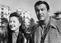 An Undated File Photo of Barbara Stanwyck and Robert Taylor.