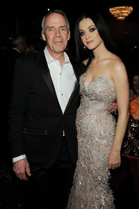 Roger Faxon and Katy Perry at the 2011 Pre-GRAMMY Gala and Salute To Industry Icons Honoring David Geffen.