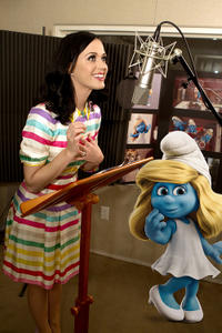 Katy Perry on the set of