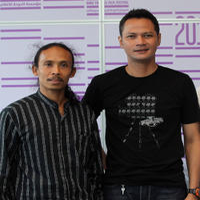 Yayan Ruhian and Ray Sahetapy at the photocall of 2011 Doha Tribeca Film Festival in Qatar.