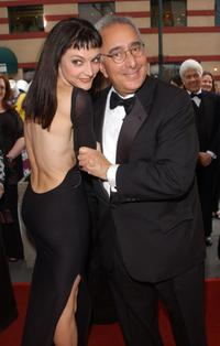 Ben Stein and Guest at the 29th Annual Daytime Emmy Awards.