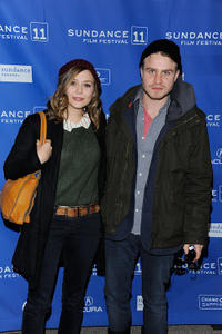 Elizabeth Olsen and Brady Corbet at the premiere of