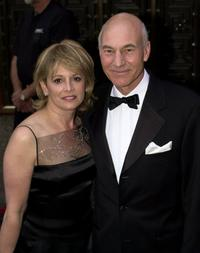 Patrick Stewart and his wife Wendy at the Tony Awards ceremony.