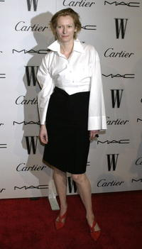 Tilda Swinton at the W Magazine's Golden Globe Glamour Party in Los Angeles.