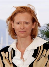"""Tilda Swinton at a photocall promoting the film """"Broken Flowers"""" in Cannes, France."""