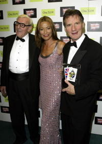 Eric Sykes, Amanda Donahue and Michael Palin at the British Comedy Awards 2002.