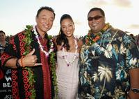 Cary-Hiroyuki Tagawa, Aya Sumika and Peter Navy Tuiasosopo at the world premier of