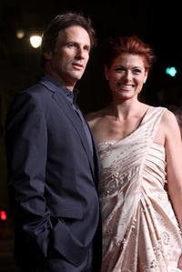 Hart Bochner and Debra Messing at the premiere of