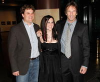 Producers Robin Bissell, Mary Pat Bentel and Hart Bochner at the premiere of