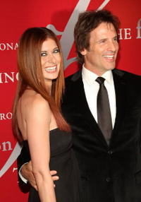 Debra Messing and Hart Bochner at the 25th Annual Night of Stars.