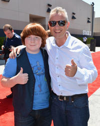 Tucker Albrizzi and director Sam Fell at the California premiere of