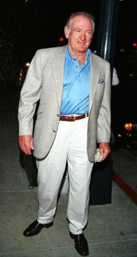 Rod Taylor at the Spago restaurant in California.