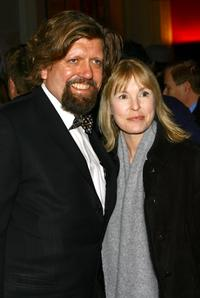 Oskar Eustis and Victoria Tennant at the opening night of