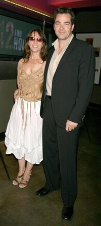 Jon Tenney and Leslie Urdang at the premiere of