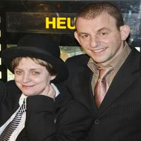 Katharina Thalbach and Dominik Horwitz at the German premiere of