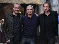 Rhys Ifans, director Roland Emmerich and David Thewlis at the promotion of