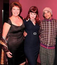 Shelley Thompson, Sarah Dunsworth and Cory Bowles at the premiere of