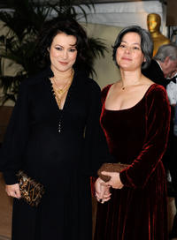 Jennifer Tilly and Meg Tilly at the Academy of Motion Picture Arts and Sciences' Inaugural Governors Awards in California.