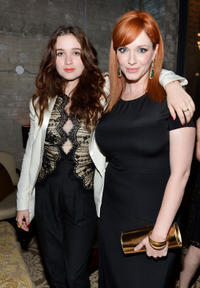 Alice Englert and Christina Hendricks at the premiere of