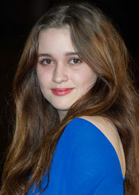 Alice Englert at the premiere of