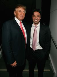 Donald Trump and Sean Yazbeck at the after party for Season Five Finale of