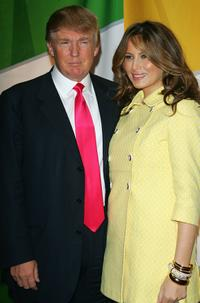 Donald Trump and his wife Melania Trump at the NBC Primetime Preview 2006-2007.
