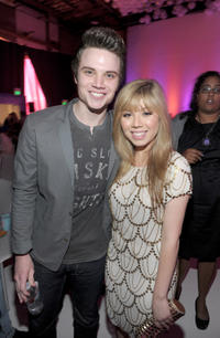 Cameron Deane Stewart and Jennette McCurdy at the Los Angeles premiere of