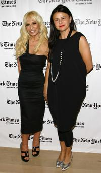 Donatella Versace and Tracey Ullman at the third Annual New York Times Sunday with the Magazine.