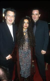 Director Stephen Frears, Lisa Bonet and John Cusack at the Los Angeles premiere of