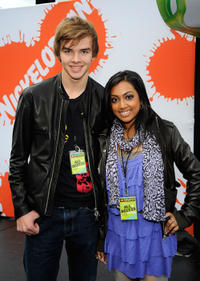 Sam Earle and Melinda Shankar at the Nickelodeon's Sixth Annual Worldwide Day of Play with NYC Big Brothers and Big Sisters in New York City.