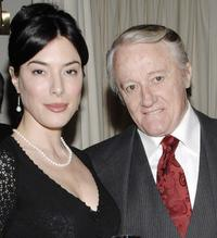 Jaime Murray and Robert Vaughn at the Celebration of Golden Globe Nomination For