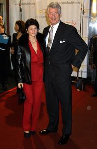 Barry Bostwick and his wife at a benefit evening for the Michael J. Fox Foundation for Parkinson's Research.