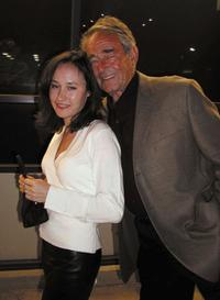 Julia Whitman and Stuart Whitman at the after party of