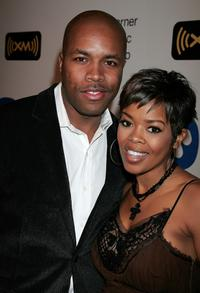 D-Nice and Malinda Williams at the Warner Music Group 2008 GRAMMY Awards after party.