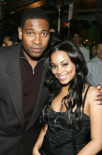 Mykelti Williamson and Lauren London at the after party of the premiere of