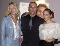 Bridgette Wilson, Matthew McConaughey and Jennifer Lopez at the premiere of