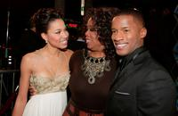 Oprah Winfrey, Actress Jurnee Smollett and Nate Parker at the Los Angeles premiere of