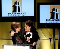 Debra Winger and Francine Maisler at the Hollywood Film Festival 10th Annual Hollywood Awards Gala Ceremony at the Beverly Hilton.
