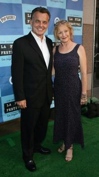 Ray Wise and Guest at the outdoor screening of