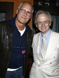 Chevy Chase and Tom Wolfe at the screening of