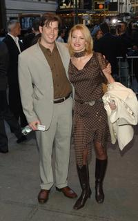 Rachel York and Guest at the opening night of