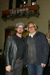 Aden Young and Kriv Stenders at the premiere of