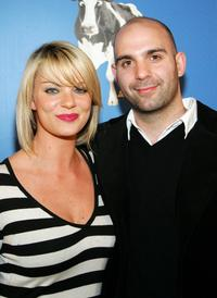 Nichole Hiltz and Ahmet Zappa at the premiere of