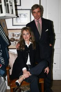 Dalila di Lazzaro and Michele Polon at the Ralph Lauren Home cocktail party.