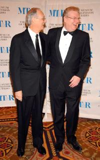 Alan Alda and Honoree Sir Howard Stringer at the Museum Of Television & Radios Annual Gala.