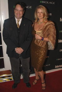 Dan Aykroyd and his wife Donna Dixon at the Entertainment Weekly's Oscar viewing party.