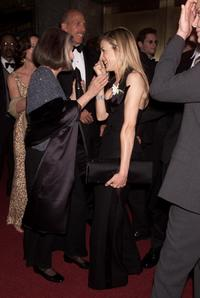 Anne Bancroft and Sarah Jessica Parker at the 55th Annual Antoinette Perry Tony Awards.
