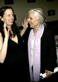 Anne Bancroft and Ann Randolph at the opening night party for