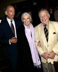 Anne Bancroft, her husband Mel Brooks and Robert Sillerman at the opening night party for
